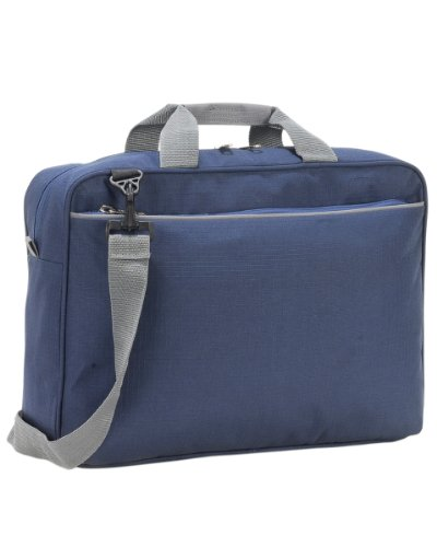 Shugon Kansas Konferenztasche, verstärkte gewebte Griffe, große Aufbewahrungstasche Gr. L, marineblau