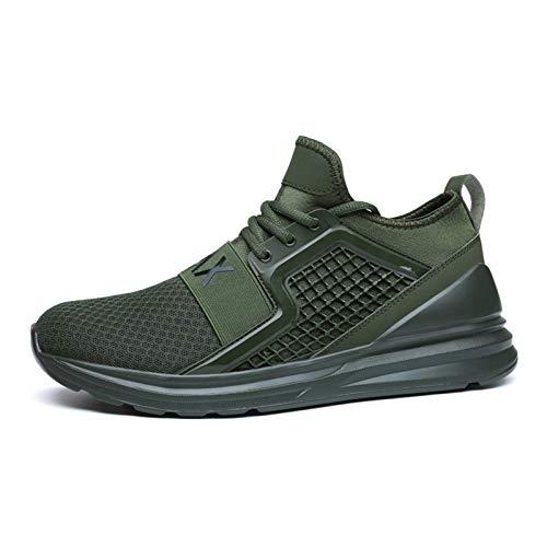 Zapatillas deportivas para hombre y mujer, antideslizantes, con cordones, para gimnasio, caminar, correr, etc., color Verde, talla 41 EU