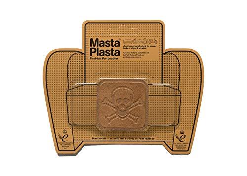 MastaPlasta Self-Adhesive Premium Suede Repair Patch, Pirate, Tan - 2 x 2 Inch - First-aid for Sofas, car Seats & More