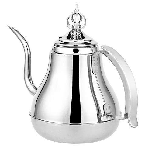 HEIFENGMUMA Crisp 1.8L / 1.2L en Acier Inoxydable Teapot d'or Pot d'argent avec Filtre réseau de Cuisine Bouilli Noir et Le thé Vert Pu'er Boisson Chauffe-Eau Cuisinier (Color : 1.2L Silver)