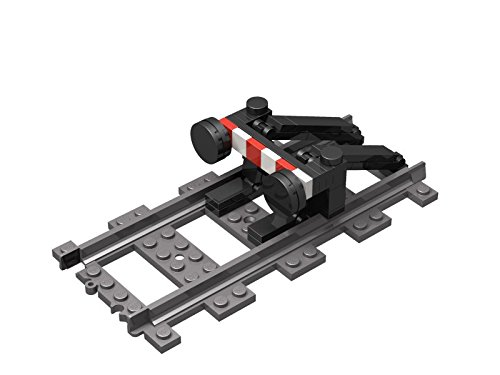 Steinchenwelt City Eisenbahn Prellbock für die Gleise und Schienen der ferngesteuerten Lego Züge
