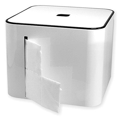 Zellettenbox The Cube weiss (ohne Zelletten) mit Ablagefach und Deckel