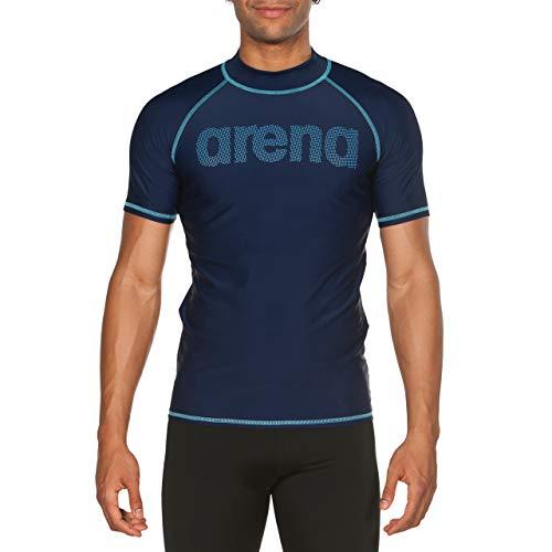 ARENA Man T-Shirt Camiseta De Manga Corta Hombre con Protección UV, Navy-Sea Blue, S