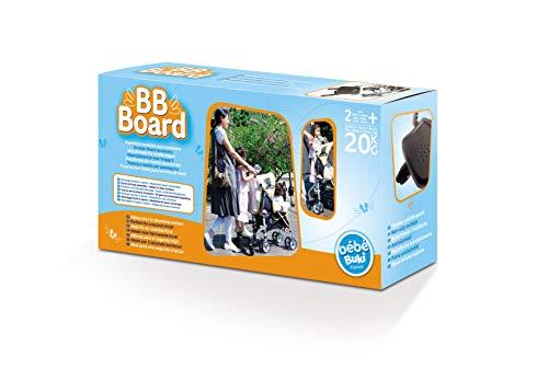 Buki Bébé Planche à Roulettes noir pour Poussette BB Board jusqu'a 20 kilo