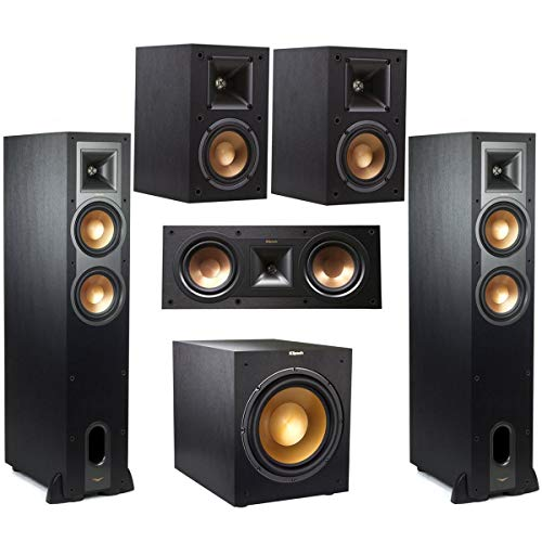 Lowest Price! Klipsch 2-Pack R-26FA Dolby Atmos Speaker - Bundle Reference R-25C Center Speaker 400W...