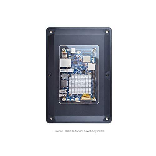 NanoPC-T4 Open Source RK3399 ARM Entwicklungsboard LPDDR4 RAM 4GB Gbps Ethernet unterstützt Android und Ubuntu, KI und Deep Learning 7inch eDP LCD Display