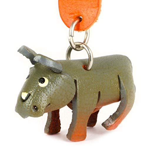 Monkimau Schlüsselanhänger Nashorn aus Leder