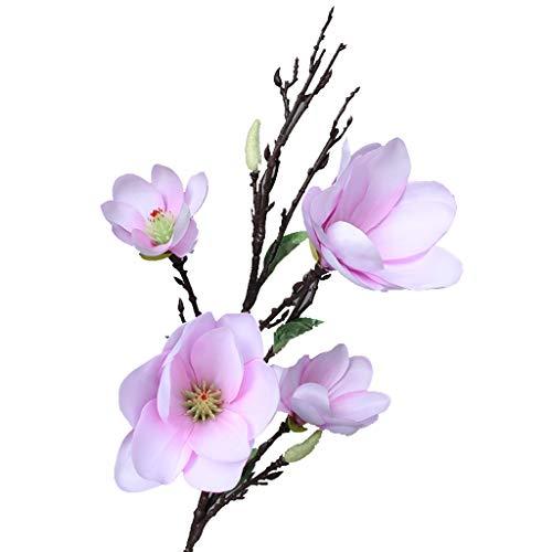 Nep bloem TXC Bloem Magnolia Hoge Vaas Bloem Arrangement Lange Tak Kunstmatige Bloem Tafel Bloem Decoratie Heldere kleuren
