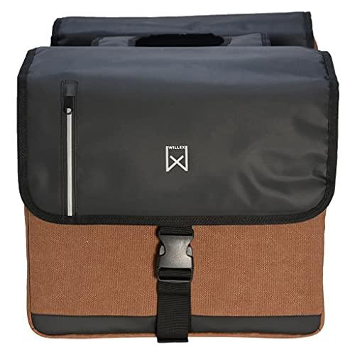 VIENDADPOW Bolso Doble de Ejecutivo Negro y marrón 30 L