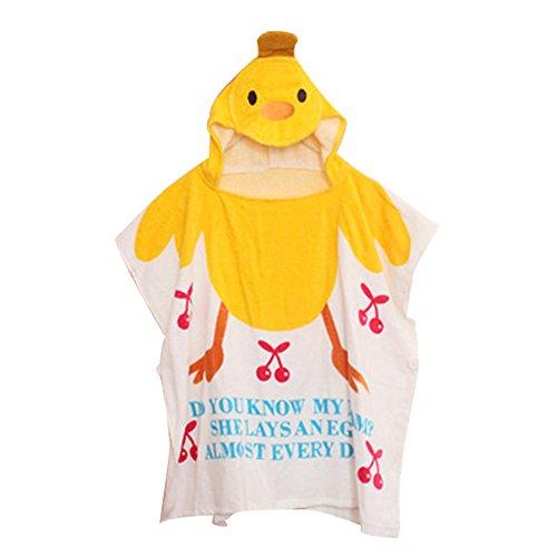 KINDOYO Nouveau née Baignoire Bébé Poncho à capuche Coton Serviette de plage Cartoon Peignoirs pour Garçons et Filles