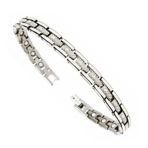 """Accents Kingdom Premium Titanium Magnetic Therapy & Healing Golf Bracelet for Arthritis and Carpal Tunnel T31, 7.5"""""""