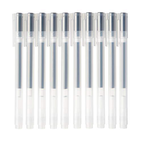 MUJI Gel-Kugelschreiber Cap Typ 10-Teiliges Set, 0,38 mm Nib Größe, Schwarz, 4550182902228, Blue, Full