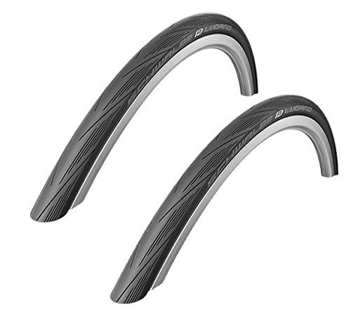 Schwalbe 2016 Lugano BLACK 700 x 28c Kevlar Active Line Road Bike Pair of Tyres