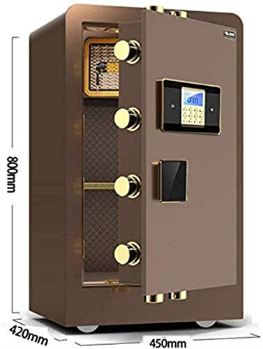 ZBY Safe Boxs Safe Box Digital Safety Safe Cabinet Safe Office Anti-Theft All Steel Fingerprint Password Large Safe Home Office Anti-Theft Insurance Cabinet Safes for Id Papers, A4 Documents, Laptop