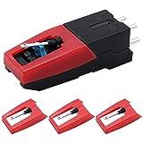 DXLing 4 Unidades Cartuchos de Vinilo Reemplazo Cartucho para Reproductor de Discos Universal con...