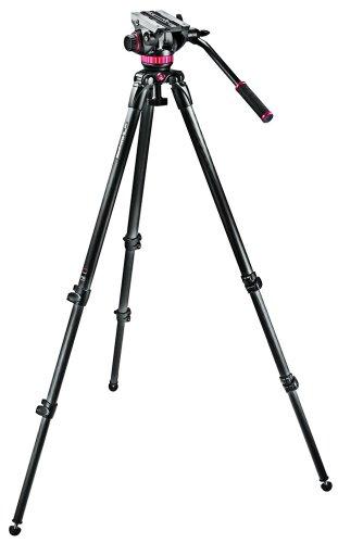 Manfrotto MVK502C-1 Professional Fluid Video System with Carbon Fiber Single Leg Tripod (Black)