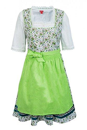 La-V Mädchen Dirndl 3tlg geblümt grün/Größe 158
