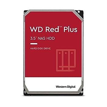 Western Digital 6TB WD Red Plus NAS Internal Hard Drive HDD - 5640 RPM SATA 6 Gb/s CMR 128 MB Cache 3.5  -WD60EFZX