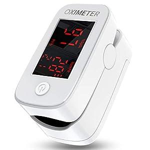 MomMed Oxímetro de Pulso, Oxímetro digital de pulso digital con alarma   Lecturas precisas SpO2, índice de perfusión, oxígeno en sangre, frecuencia del pulso, BPM   Fácil de leer   Uso para atletas