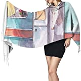 Ahdyr Damen Schal Schal Style 02Women Schals Winter Soft Wraps Pirate Label Kaschmir-ähnlicher Schal Schal
