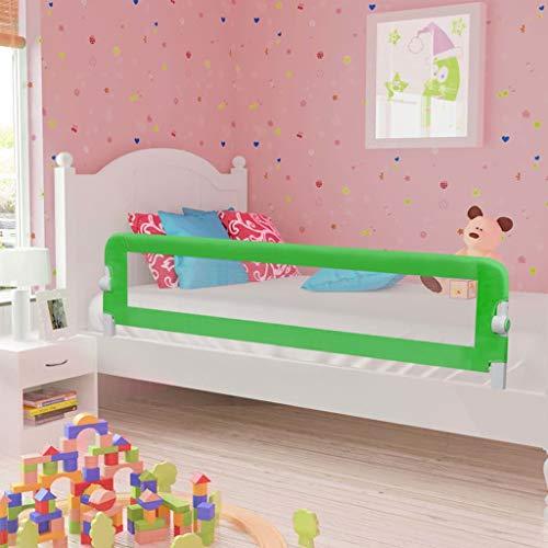 Festnight- Barriera Per Letto Da Bambini, Sponde Letto Di Sicurezza Bambini Poliestere 180X42Cm Verde