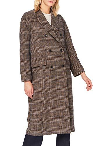 Herrlicher Philippa Wool Check Abrigo, Camel 64, M para Mujer