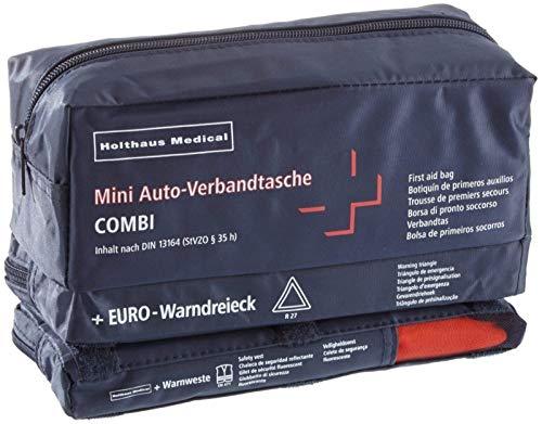 Holthaus Mini 3in1 KFZ Auto Verbandtasche + Warndreieck + Warnweste Din 13164 von MBS-FIRE®