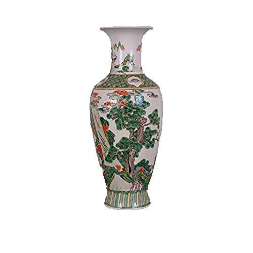 Fashion158 Daqing Kangxi handbemalte antike Farben Figuren 8 Immortals Vase Porzellan Kollektion Klassische Wohnzimmer Dekoration