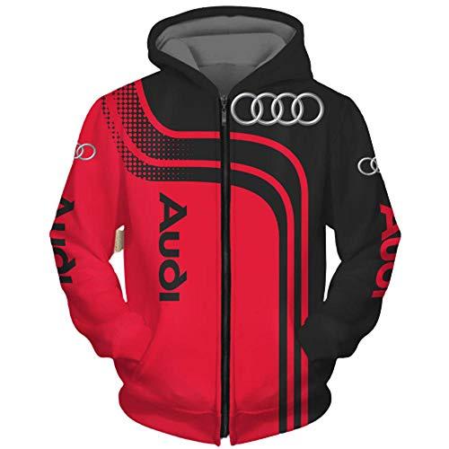 Herren Hoodies Jacke für Audi 3D-Druck Hoodie Pullover Sweatshirt Fan Jersey Sportswear A- M