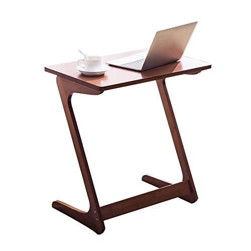 GUOQING Mesa portátil con Ruedas Escritorio de computadora Tipo Z, Mesa de Comedor móvil, Mesa Auxiliar de sofá, Mesa de Estudio portátil Perezosa, tamaño Opcional Mesa de Cama con Ruedas