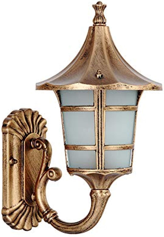Wandlampe Vintage Wasserdichter IP54 Auenwandleuchte Aluminium Und Glas Schwarz Gold E27 Wandbeleuchtung Gartenlampe Aussenleuchte Hoflampe Balkon Hause Eingangsbeleuchtung 23  21  39 Cm
