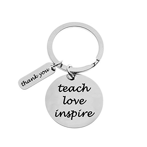 Teacher Appreciation Gifts Keychain, Show Your Teachers Appreciation, Thank You Keychain Key Ring Gifts (Teach Love Inspire)