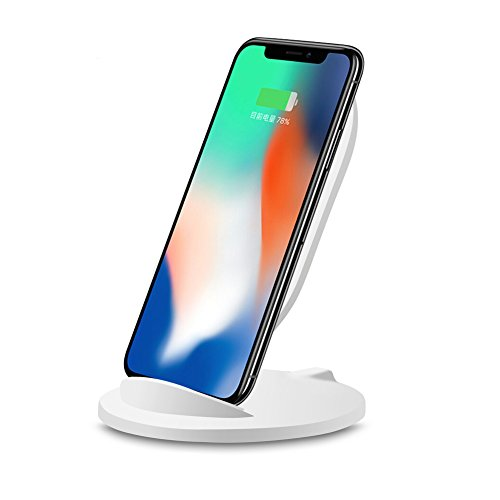 Mchoice Concision Portable Qi Safe Wireless Charger Charging Stand for Iphone 8/8 Plus/X