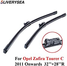 Wipers Professional Pair Windscreen Wiper Blades For Opel Zafira Tourer C 2011 Onwards 32''+28''R Natural Rubber Car Accessories - (Item Length: 15