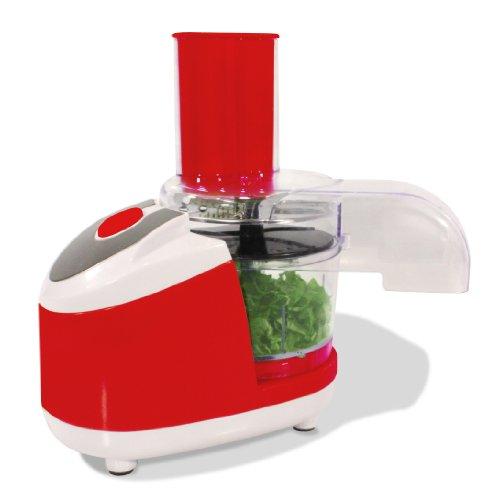 Küchenmaschine Universalzerkleinerer | Elektrischer Gemüsezerkleiner als idealer Küchenhelfer | Mini Chopper für Gemüse, Obst & Fleisch | Rot