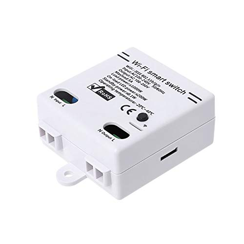 Lopbinte 2.4G Wifi Interruptor Inteligente Para Ewelink Aplicación Diy Control Remoto Inalámbrico Controlador De Módulo De Relé De Automatización Trabajo Con Alexa Home