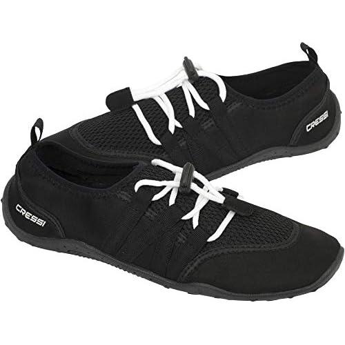 Cressi Elba Pool Shoes, Scarpette Ideali per Mare, Spiaggia, Barca, e Sport Acquatici Vari Unisex Adulto, Nero, 35