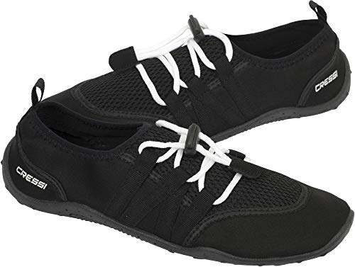 Cressi Unisex– Erwachsene Elba Pool Shoes Badeschuhe für Meer, Strand, Boot und Wassersport, Schwarz, 39 EU