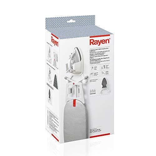 Rayen | Colgador para Tabla de Planchar y Plancha | con Aislante de Calor | Universal | Medidas: 43 X 31,3 X 15 Cm, Blanco