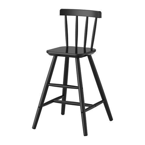IKEA Agam Kinderhochstuhl in schwarz; aus Massivholz