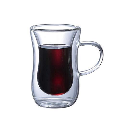 100 Ml glas ontbijt glas creatieve whisky glas bier brandewijn wodka cup anti-Scalding thee kopje koffie kop melk Cup Met handvat