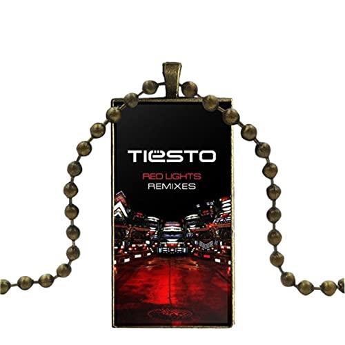 WEIMING para Regalo de Fiesta Unisex, joyería con Logotipo de DJ Tiesto...