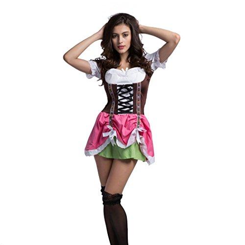 VENI MASEE Deutsch Bier Oktoberfest Kellnerin Mädchen-Maiden Halloween Kostüm