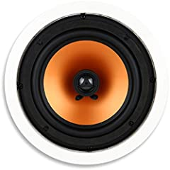 """2-way in-ceiling speaker with a high excursion 8"""" poly woofer and a 1"""" soft dome tweeter Perfect integration between the tweeter and woofer is achieved through a 6dB crossover network Smooth and natural sound signature with robust bass output for imp..."""