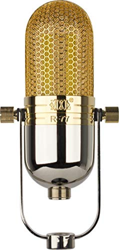 MXL Ribbon Microphone, XLR Connector, Chrome/Gold R77