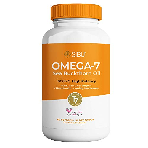 SIBU Omega 7 Sea Buckthorn Oil Soft gels, 60 ct