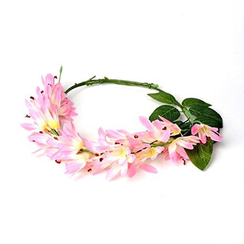 Haarkrans en armband met roze bloemen haarband haarband hoofdband haaraccessoires