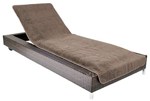 Brandsseller - Funda para tumbona, toalla para playa y piscina, 100% algodón, aprox. 75 x 200 cm, algodón, marrón, 75x200 cm