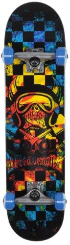 Speed Demons Komplett Skateboard Skull Checker Acid, multi color,