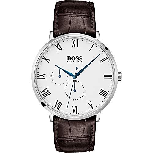 Hugo Boss Herren Multi Zifferblatt Quarz Uhr mit Leder Armband 1513617